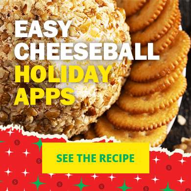 Easy cheeseball holiday apps - See the recipe