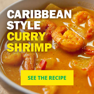 Caribbean Style Curry Shrimp - See the recipe