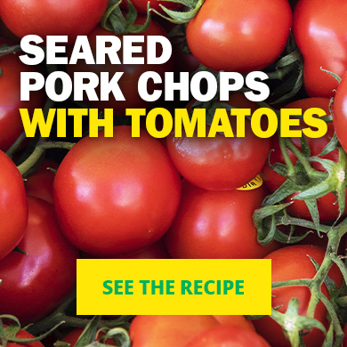Seared pork chops with tomatoes - See the recipe