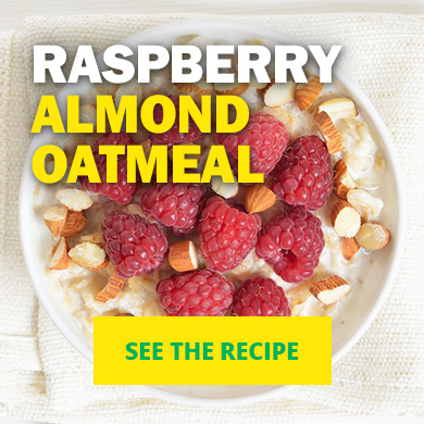 Raspberry Almond Oatmeal - See the recipe